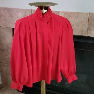 Yves St Clair Petites size 6P Red Blouse